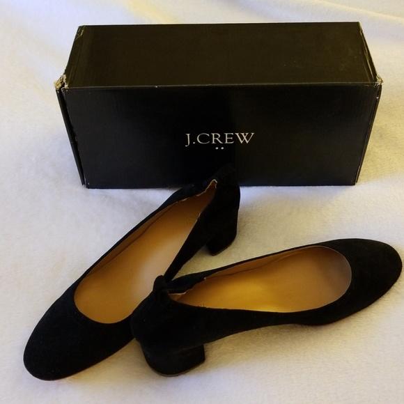 Jcrew Anya Suede Block Heels